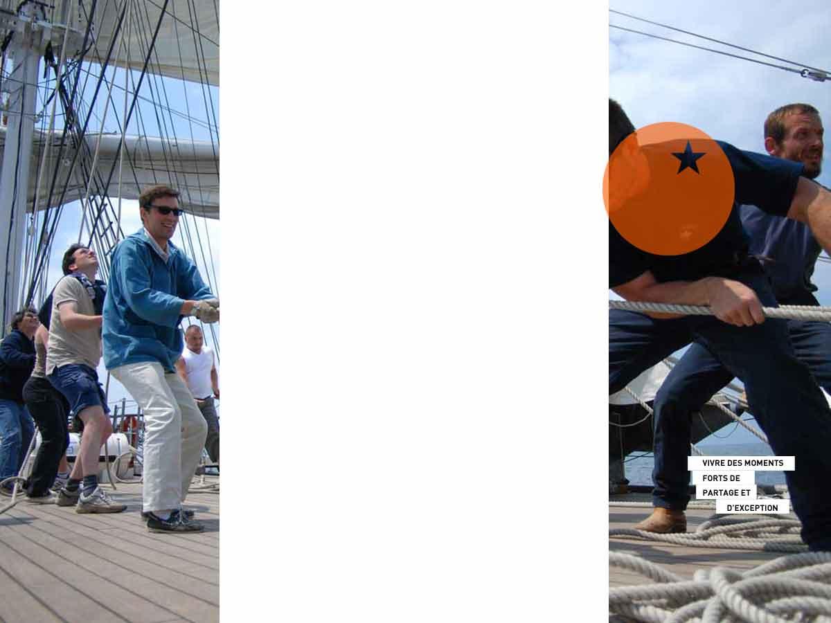 Teambuilding sur le navire Belem de Nantes